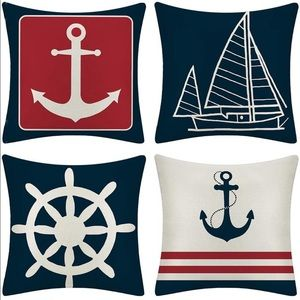 Anchor Nautical Sailing Pillow Covers
